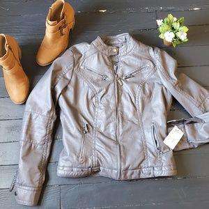 NWT J2 Leather Style Jacket